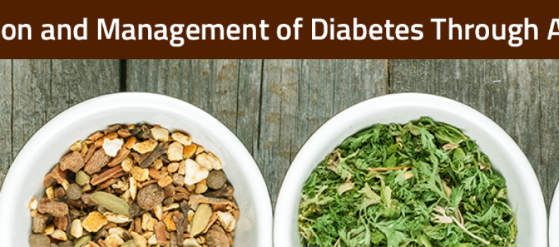 Ayurveda offers effective prescriptions towards control and management of diabetes